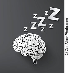 vectorof sleep concept with brain - vector of sleep concept...