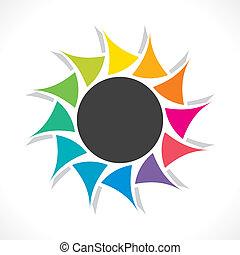 creative colorful round stiker or label design