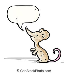 cartoon mouse with speech bubble