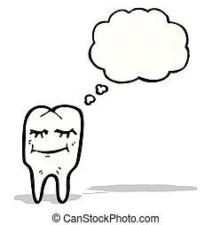 cartoon happy tooth