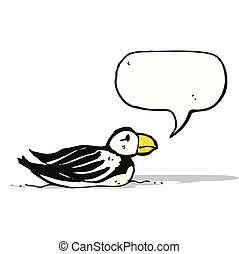 cartoon puffin