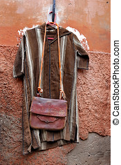 Clothes for sale in Morocco - Clothes and leather bag for...