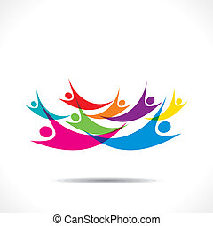 colorful flying or sky diving people  background vector