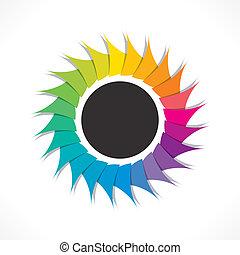 creative colorful round stiker or label design