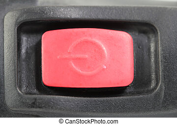 red power switch button
