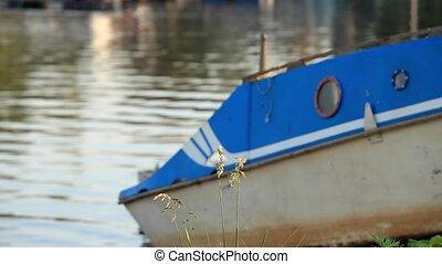 old boat on the shore - seascape with boat Loop ready File