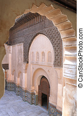 Ali Ben Youssef Madrassa in Marrakech, Morocco.This is a...