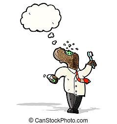 cartoon man gargling mouthwash