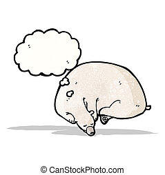 sleeping polar bear cartoon