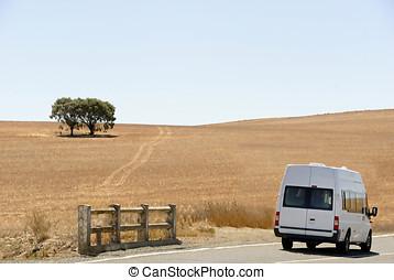 Camper on its way - Camper van on its way in Australia