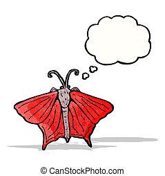 cartoon moth
