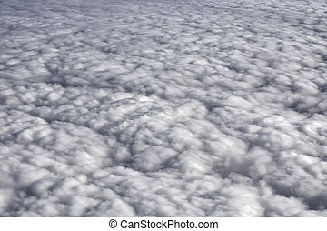 Fluffy Rain Clouds - Fluffy rain clouds shot from an...