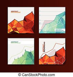 Business chart graphs - set of business chart graphs