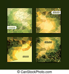 Set of abstract vector background.