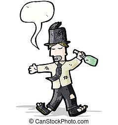 drunk man in top hat