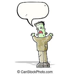 frankenstein's monster cartoon - zombie's monster cartoon