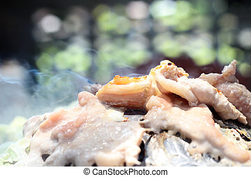 Korean cuisine , barbecue grill