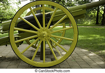Carriage Spoke Wheels - Cannon Carriage Spoke Wheels