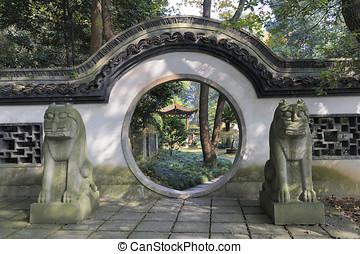 jardim, a, seis, Harmonies, pagode