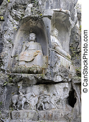 Buddha carving Hangzhou, China