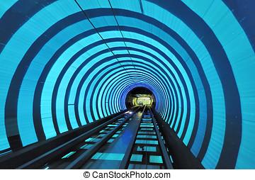 Bund Tourist Tunnel Shanghai - Shanghai Bund Tourist Tunnel...