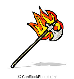 flaming axe cartoon