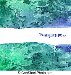 Vector watercolor background. Painting. Vector illustration...