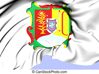 Flag of Nayarit, Mexico. Close Up.
