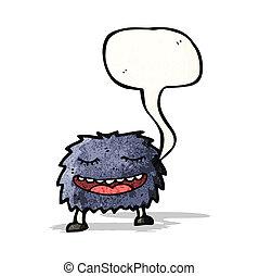 cartoon furry monster