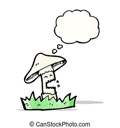 cartoon magic mushroom character