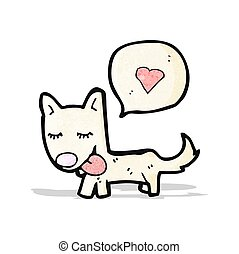 cartoon affectionate dog