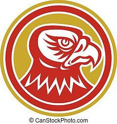 Falcon Head Side Circle Retro