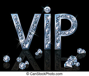 Diamond VIP invitation card,