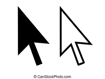 Cursor arrows - Silhouette of two black cursor arrows...