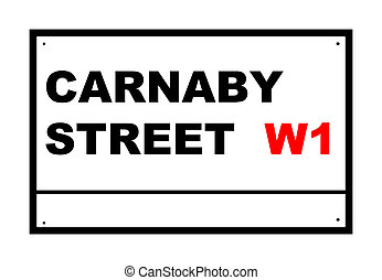 Carnaby street road sign - Carnaby Street road sign isolated...