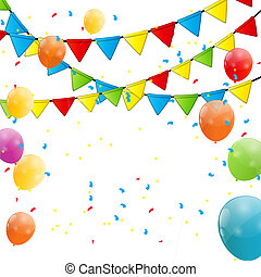 Party Flag Background Vector Illustration EPS 10