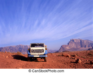 4 wheel drive in Wadi Rum desert in Jordan - This Wadi Rum...