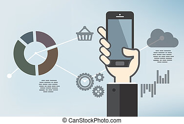 Mobile application development or smartphone app programming...