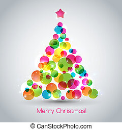 Christmas tree - Vector illustration Christmas tree