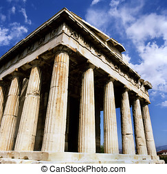 Temple Hephaisteion - Greece, Athens Ancient Agora Temple...