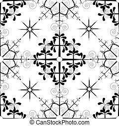 snowflake pattern - An illustration of different black...