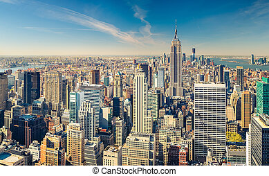 Manhattan aerial view - New York City Manhattan aerial view