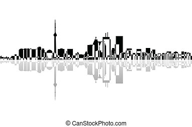 City of Toronto panorama, vector