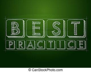 best practice over green blackboard