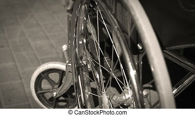 People Physically Challenged - Monochrome shot of...