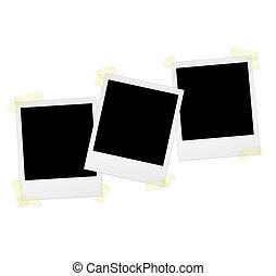 Polaroids with tape