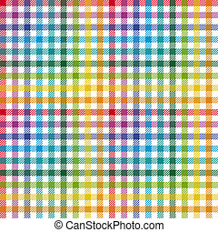 Checkered tablecloth pattern COLORFUL - endless
