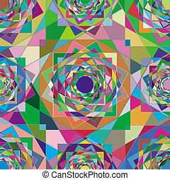 kaleidescope pattern - An illustration of kaleidescope...