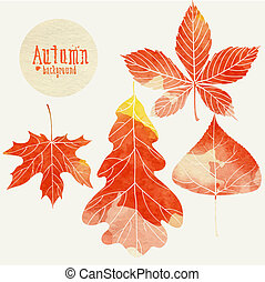 Autumn Background With Leaves. Vector Illustration. Eps 10