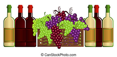 Vineyard - Clip-arts of wine and fruits